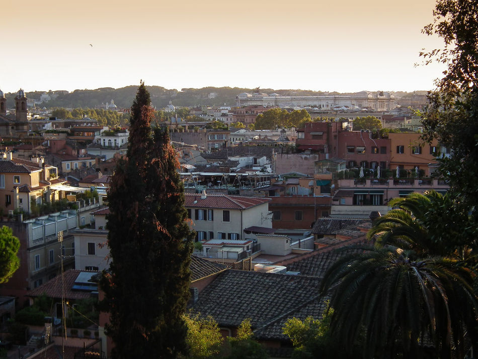 Aerial View Architecture Arrival Building Exterior Built Structure Business Finance And Industry City Cityscape House Itala Italie Italien Italy Italy❤️ Italy🇮🇹 Landscape No People Rom Roma Rome Roof Street Sunset Travel Destinations Tree
