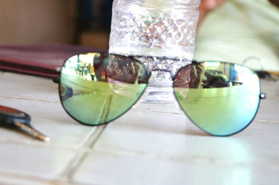 Indoors  Table Day Sunglasses ✌👌 Sunglasses Reflection Indoors  No People Reflection Close-up