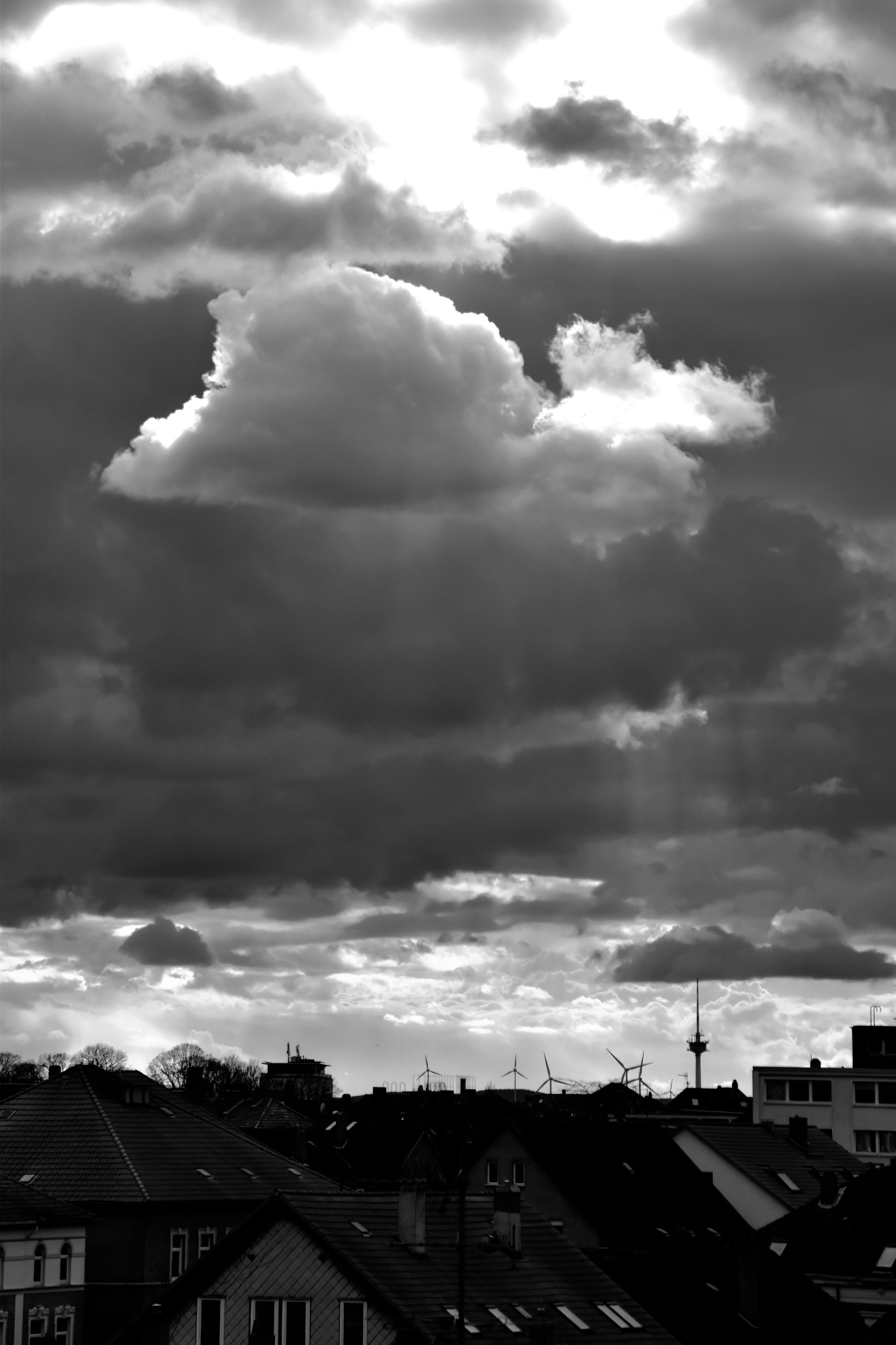 cloud - sky, sky, dramatic sky, storm cloud, cloudscape, outdoors, awe, nature, city, no people, architecture, cityscape, beauty in nature, day