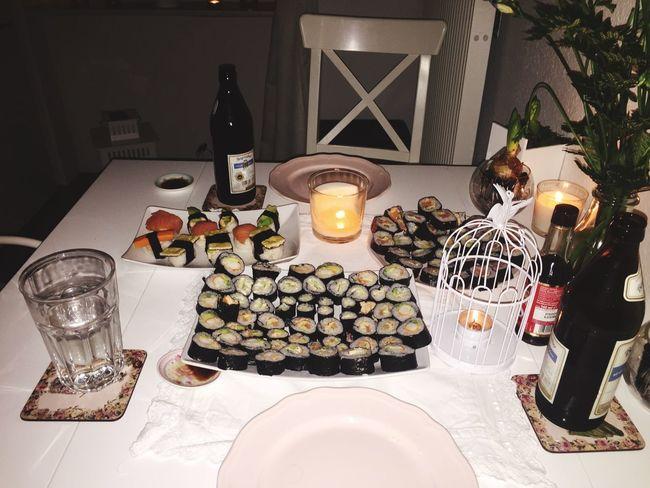 Sushi Selfmade Visiting Cousin Erfurt