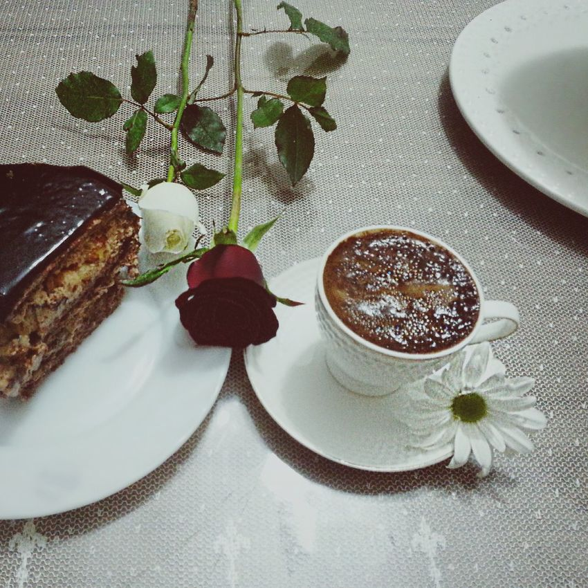 Coffee Chocolatecake Daisy Rose🌹 Popular Photos Photography Wonderfultime Turkishcoffee