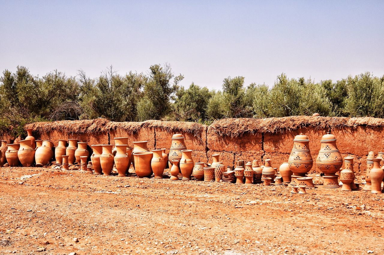 Clay pots Large Group Of Objects Outdoors Earthenware No People Clay