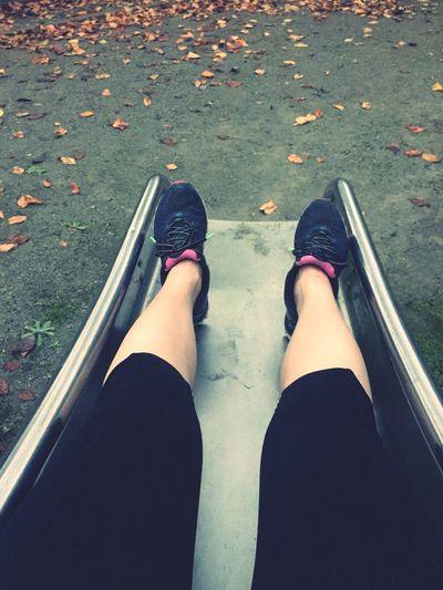 Sentimental October Travelingfoot Jogging Diet & Fitness Enjoying Life Autumn Autumn Leaves