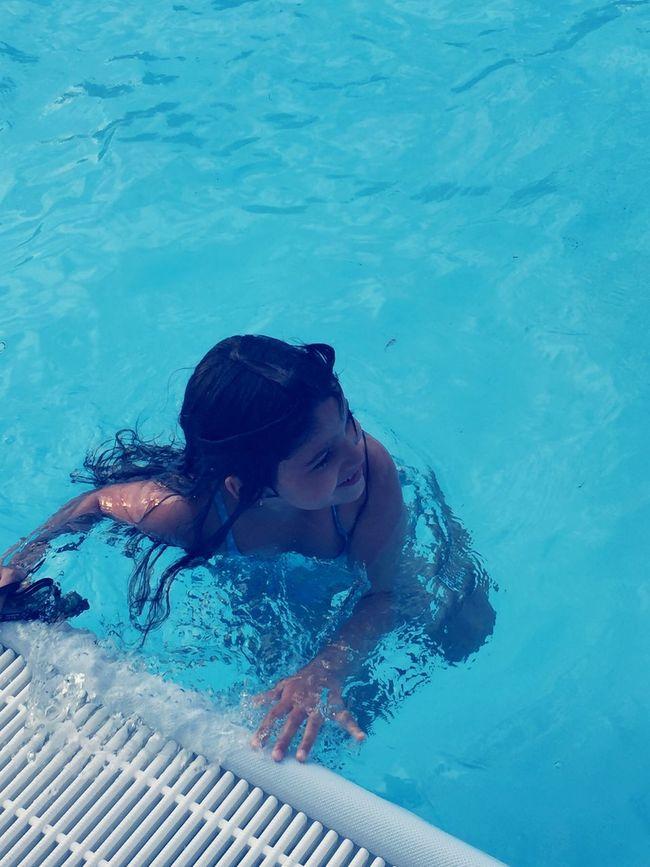 Water Swimming Pool Blue Summer Swimming
