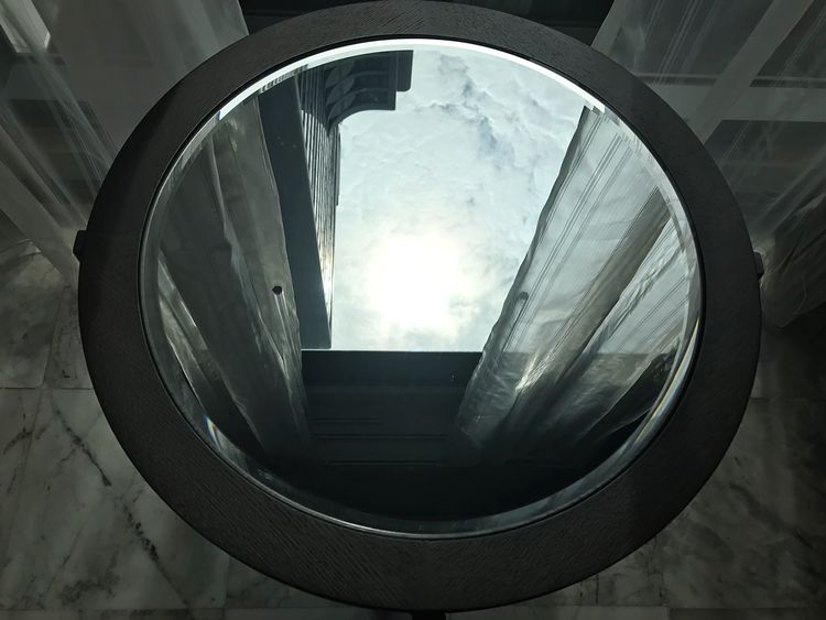 The Sky In A Mirror Window No People Day Indoors  Built Structure Architecture Sky Close-up Nature City Through The Window New Perspectives