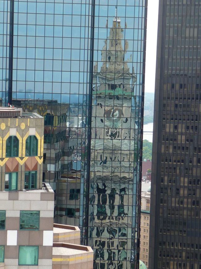 Architecture Reflection Boston Coustoms House Tower