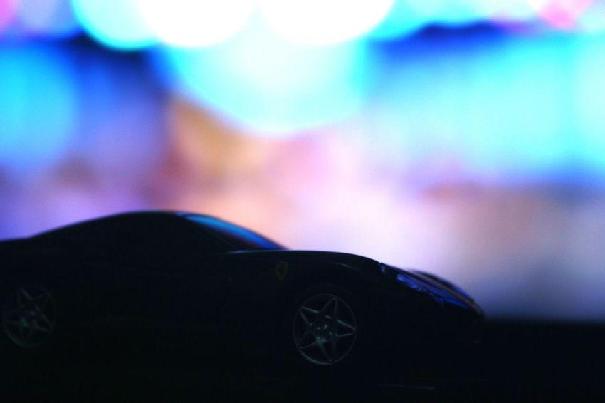 Car Transportation Old-fashioned Land Vehicle Close-up No People Indoors  Day Colorful Background Ferrari Bokeh Background Black Car Black