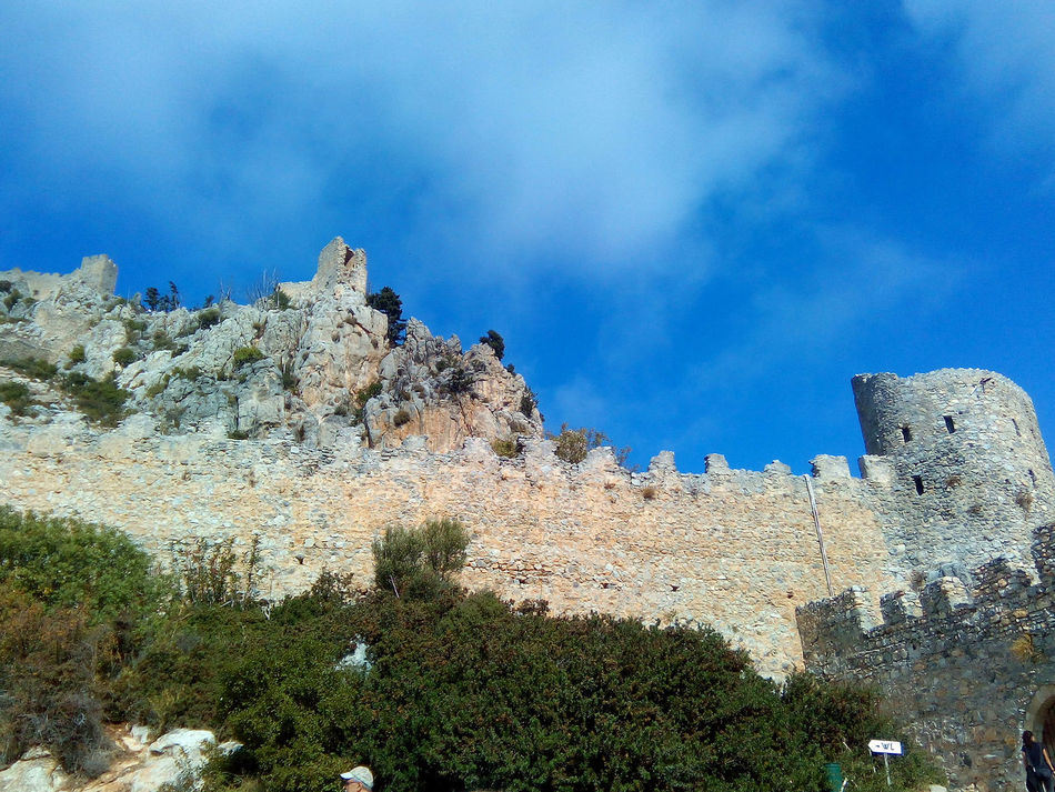 Ancient Ancient Ruins Castle Cloud - Sky Day History Kyreneon Low Angle View Nature No People Northern Cyprus Outdoors Sky St. Hillarion Castle Tree