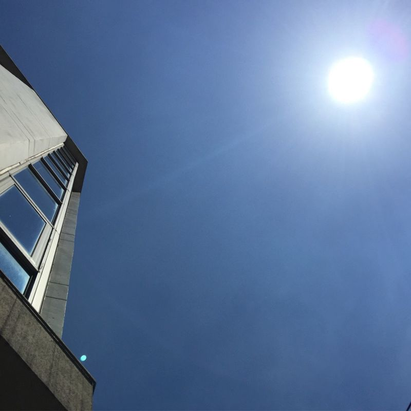 Ths sun is too bright to see. Sunlight Blind Observatory Blind Shots Hot Day