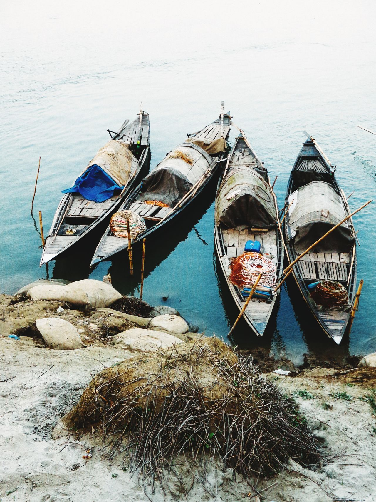 Boats Nautical Vessel Gondola - Traditional Boat Transportation Moored Travel Destinations Travel Mode Of Transport Outdoors Tourism Day Vacations Water People Gondolier Travel Photography River Collection Boats And Water River View Transportation Traveling The World Bangladesh Travel Traveling