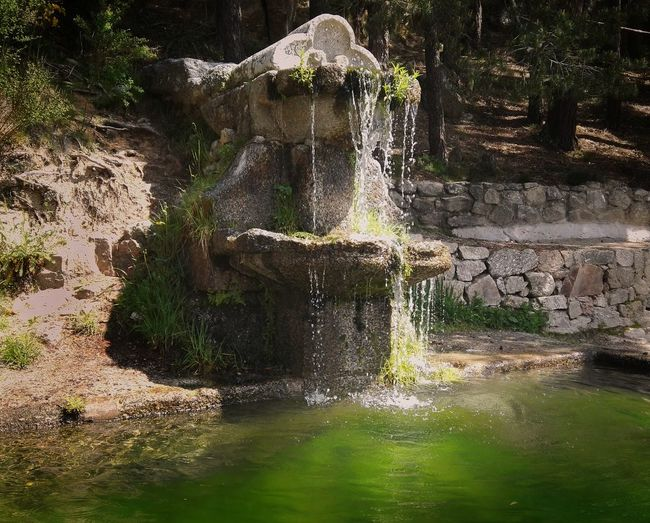 Fuente Puente de la Cantina My Favorite Place Water Fountain Splashing Tranquility Outdoors Green Color Nature Landscape Travel SPAIN Visitspain