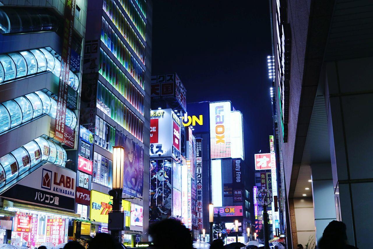 City Night Neon Akihabara City Life City Street Illuminated