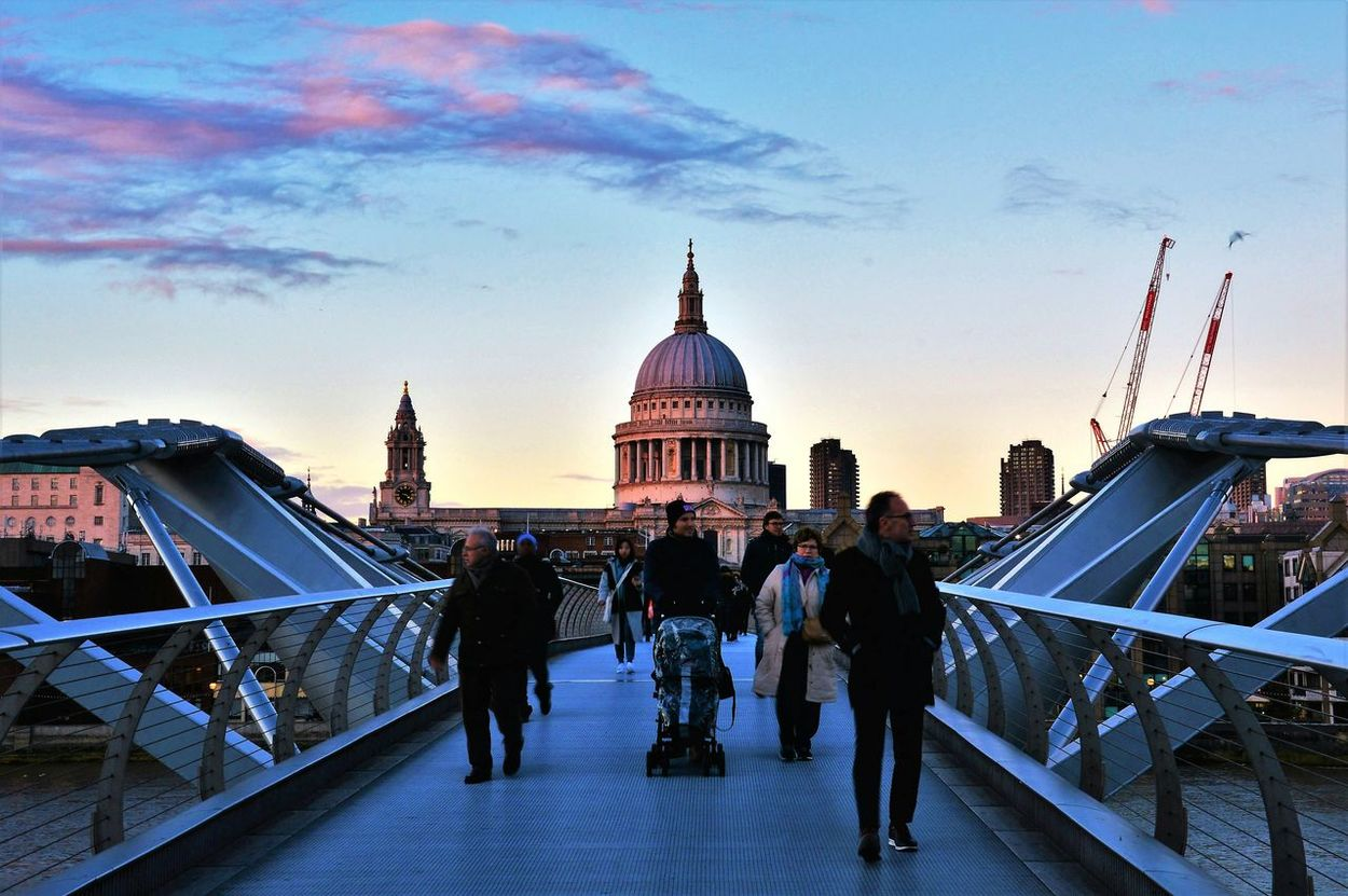 City Travel Destinations Travel Winter Architecture Cold Temperature Cityscape Outdoors People Londononly Londonthroughmycam Londonphotography London_only LONDON❤ Great Britain Sunset London Uk StPaulscathedral Church Lovelondon The Street Photographer - 2017 EyeEm Awards EyeEm LOST IN London Postcode Postcards
