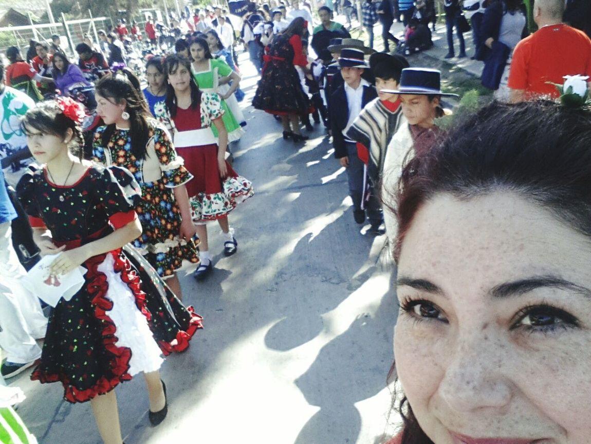 Desfile Chile♥ Lampa Fiestas Patrias Escuela Lipangue 18 De Septiembre Dia Nacional
