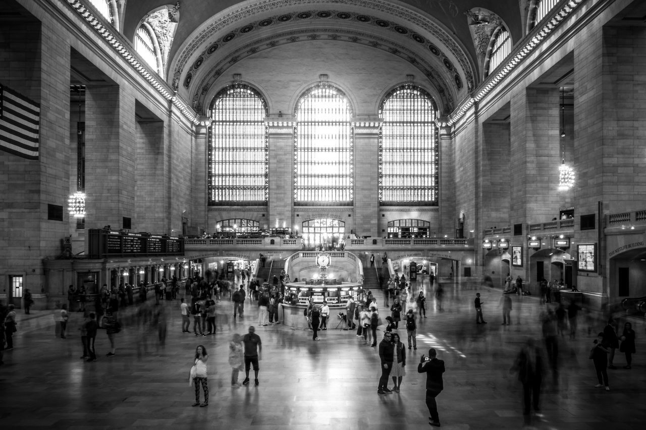 large group of people, travel, built structure, real people, architecture, tourism, indoors, travel destinations, railroad station, transportation building - type of building, lifestyles, women, illuminated, men, crowd, day, people, adult, adults only
