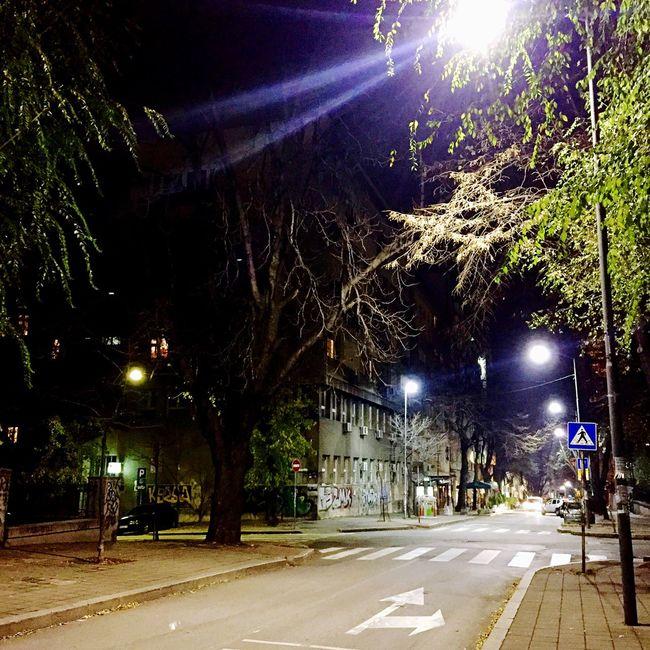 Belgrade Belgrade,Serbia Streetphotography Street Photography Streetlights Belgradestreets Belgradenight Street. Night. Belgrade. Again.. 🌃❤️
