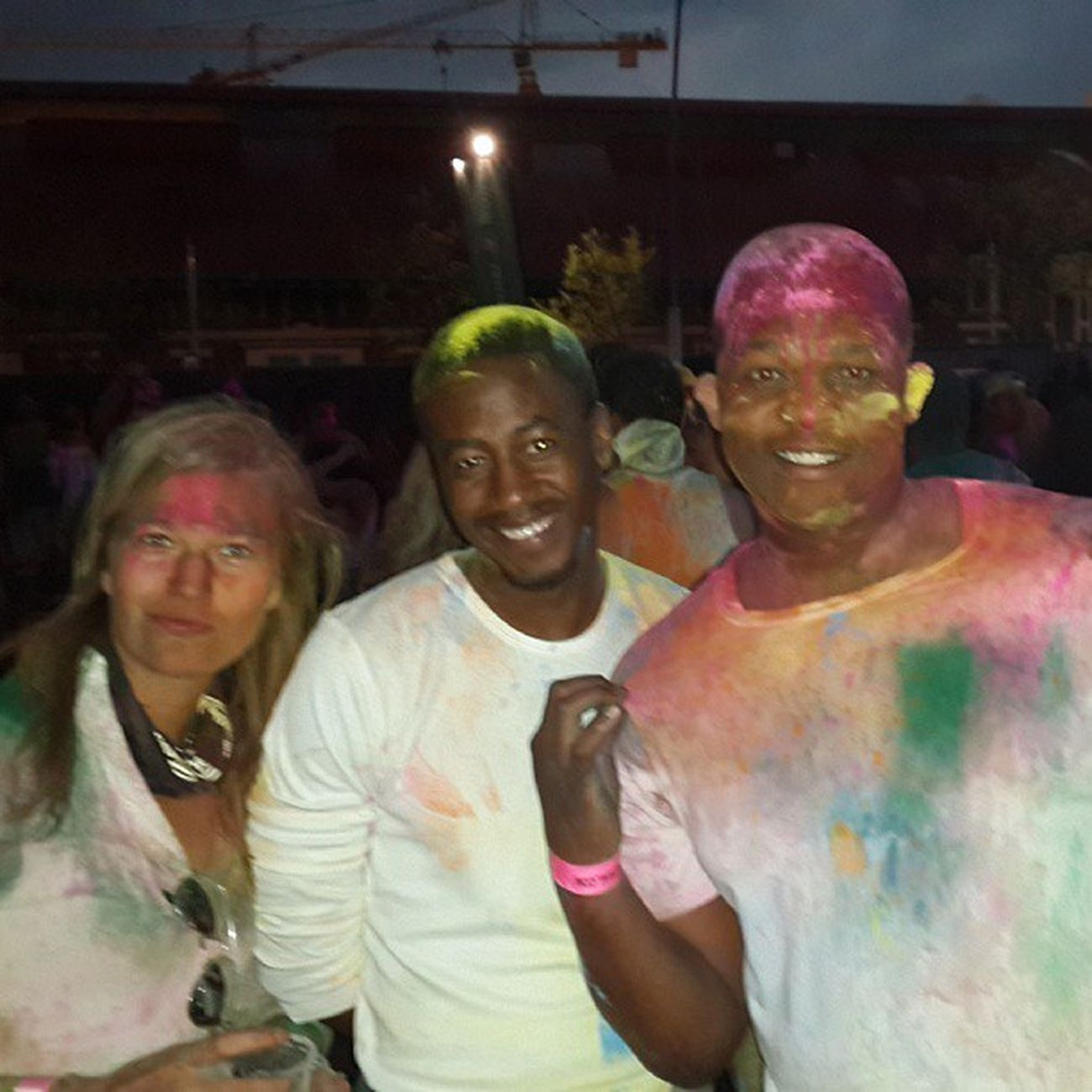 White girl photo bombed the pic!! We still loving it!! HolifestivalSA @ghettonerdgp
