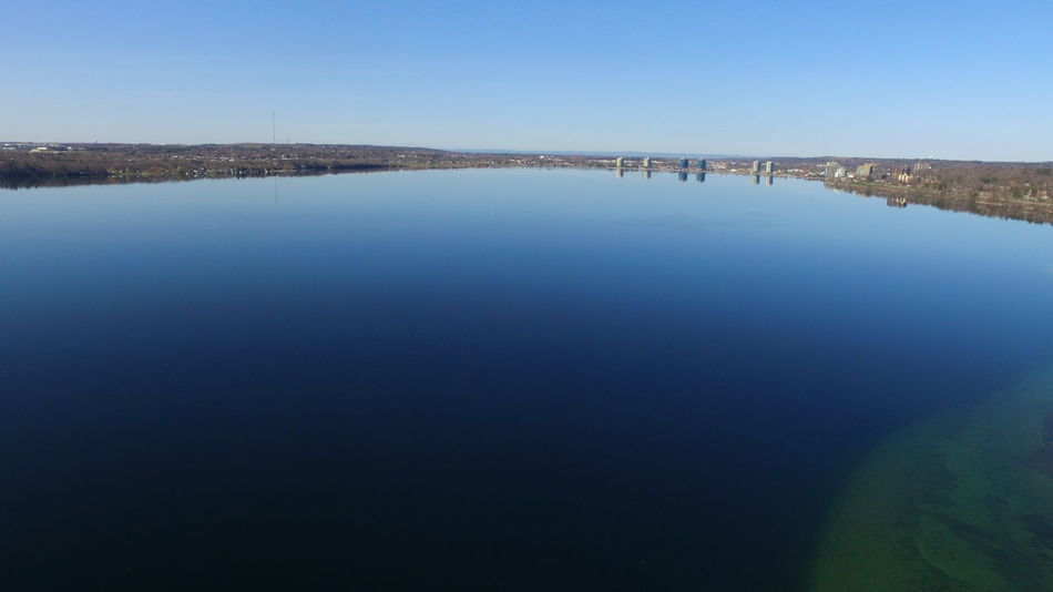 Barrie Blue Sky Calm Water City Dronephotography Droneshot Lake Simcoe Water Reflections