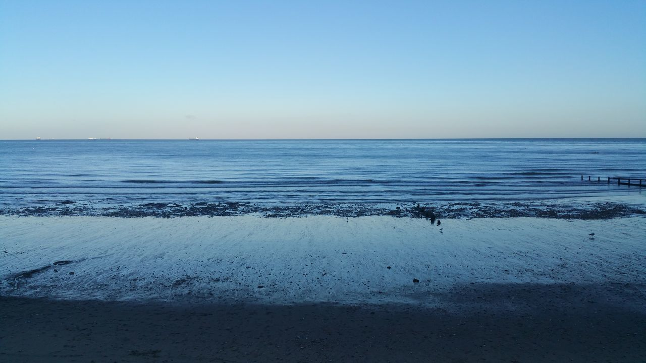 Shanklin Beach Seascape Blue Tranquility Tranquil Scene Horizon Over Water Sea Water Clear Sky Calm Beach