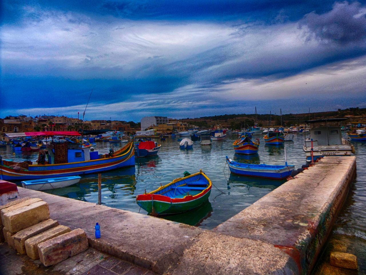 Boat Boating Boats Boats And Water Boats⛵️ Dock Docks Follow Follow4follow Followme Harbor Harbour Harbour View Malta Maltaphotography Malta♥ Market Marsaxlokk Ship Ships Ships⚓️⛵️🚢 Sky Water Water Reflections Water_collection
