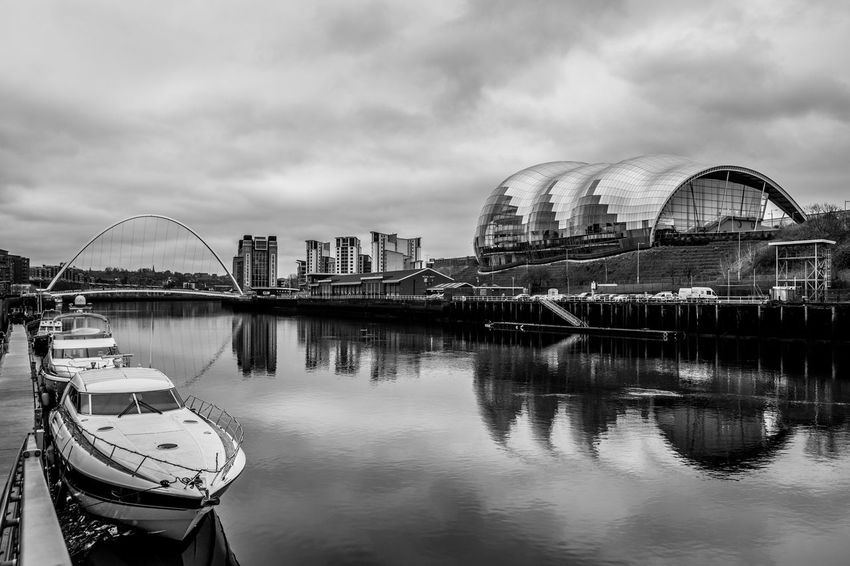 Thesage Millenium Bridge Newcastle Upon Tyne Architecture Building Exterior Sky Ferris Wheel Reflection Built Structure Water Cloud - Sky Travel Destinations City Arts Culture And Entertainment Outdoors Cityscape Modern Day Nikon TheWeekOnEyeEM Check This Out Eyembestshots Riverside Nikonphotography
