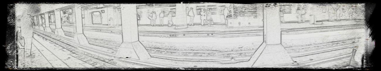 Subway Subway Station Panorama Sketch