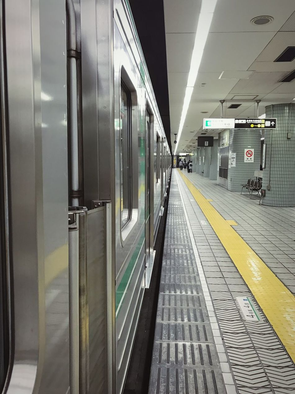 Train Subway Subway Station Subway Train Out Of Service Indoors  Japan Japan Photography Waiting Platform IPhone IPhoneography Iphone7 No People EyeEmNewHere