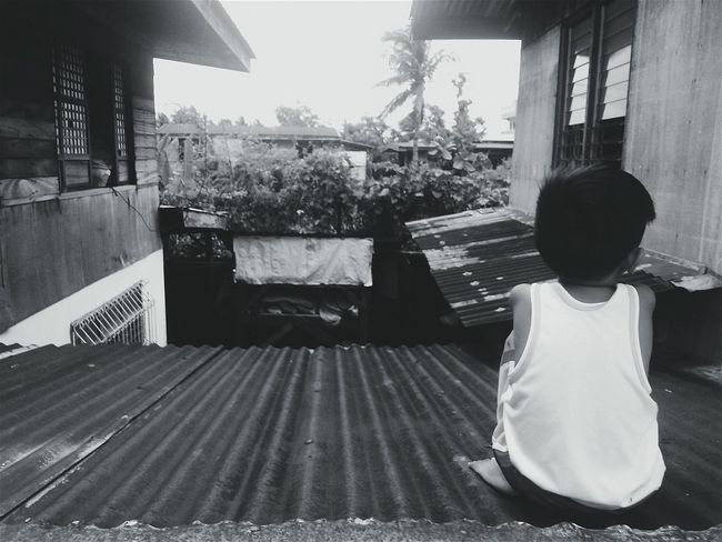 Childhood Blackandwhite Photography Child Children Playing Roof Child Photography