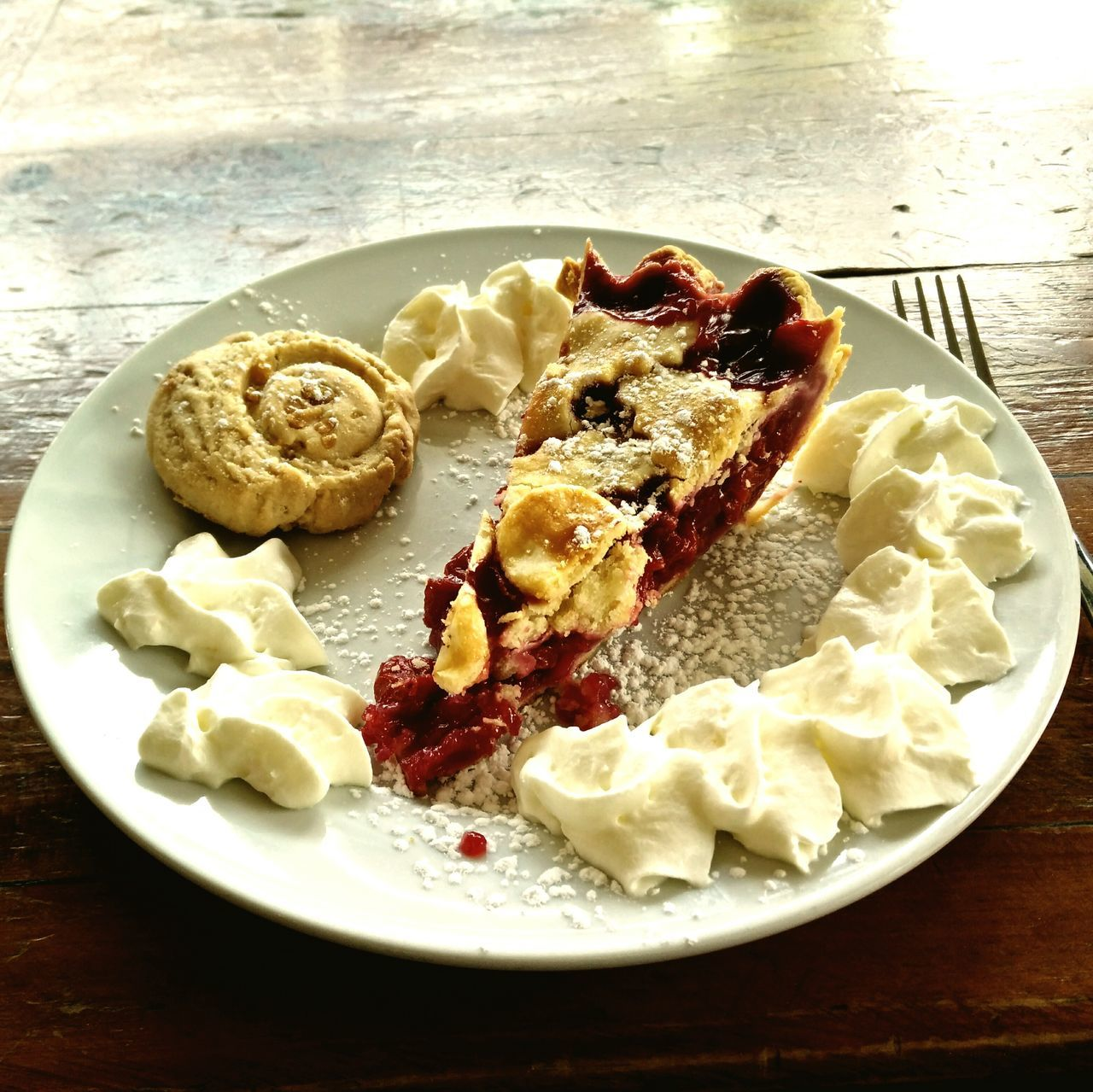 Cherry Pie With Cream and Maple Cookie in Toronto