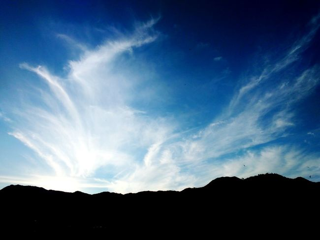 Sky And Clouds Sky Clouds Mountains Contrast Dawning Blue Sky