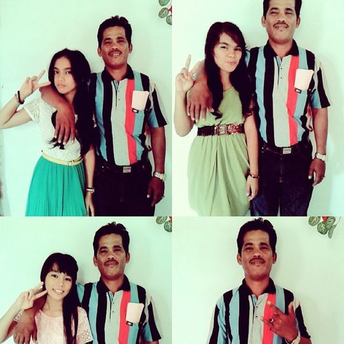 With papa 😄😉