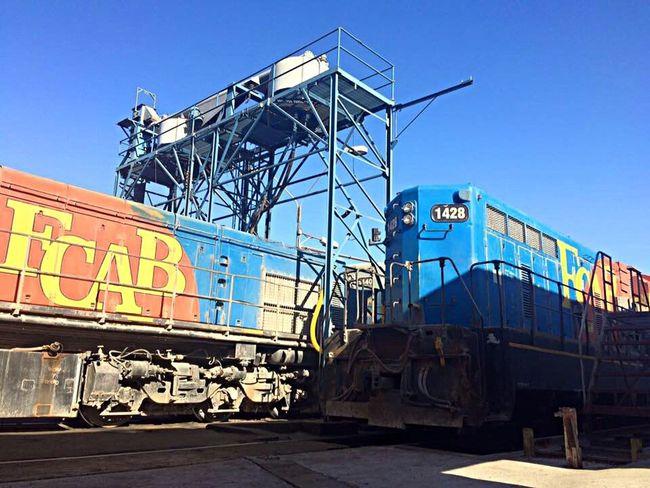 Job Trabajo Tren Chile Antofagasta Esperando mis maquinas para comenzar mi jornada laboral !! 😁😁