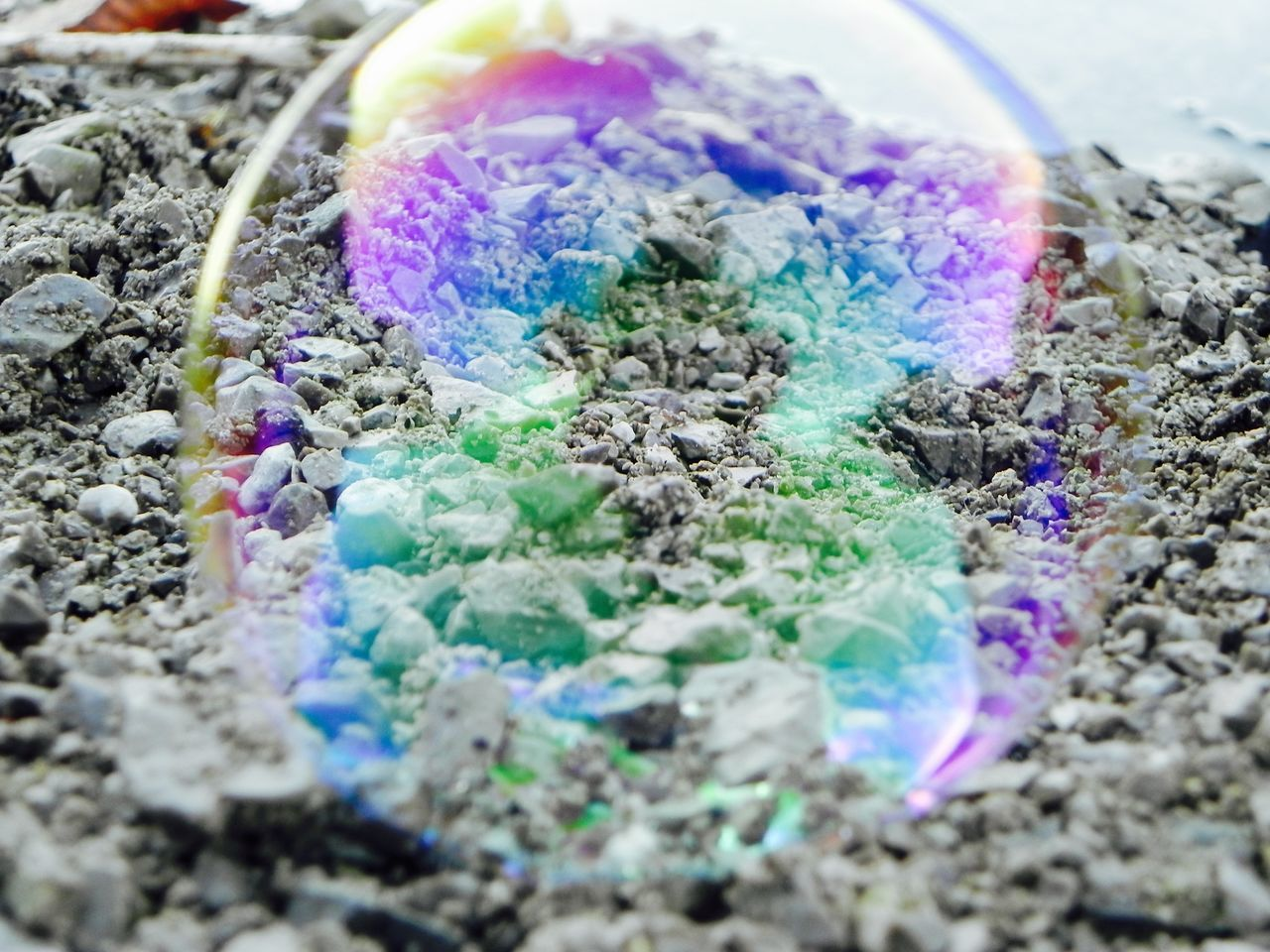 tough bubble Bubble Childhood Memories Close-up Colors Day Daydream Dream Fragile Fragility Iridescent  Mindfulness Multi Colored Nature No People Outdoors Painted Perfekt Moment Playful Round Soap Bubbles Stones Strong Tough Tough Bubble Wondering