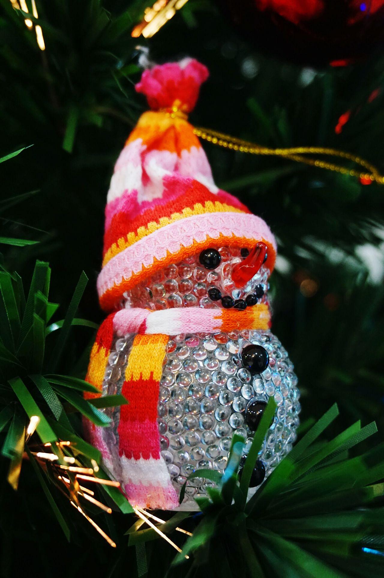 Snowman Decorations Taking Photos Cute