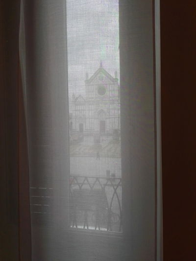 Window Indoors  Transparent Glass - Material Close-up Curtain Window Frame Day No People Florence Italy Santa Croce Cathedral