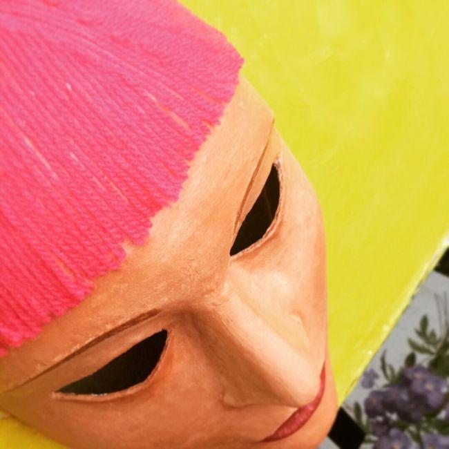 Acrylic Masque Acrylic Painting Papier-mache Peint Peinture Acryliques Visage Tableau Oeuvre
