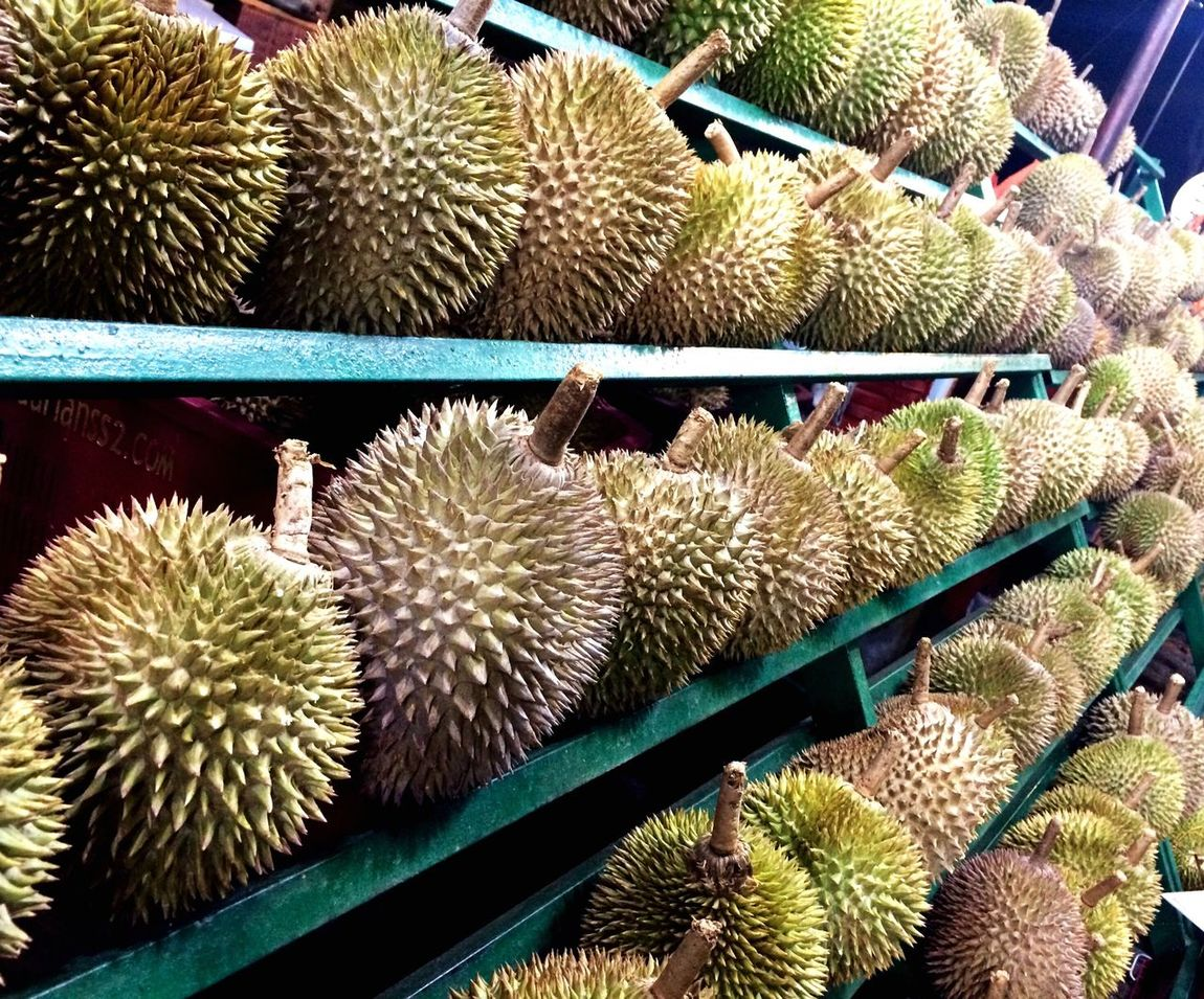 Live Love Shop Durians Durianstall Durianfeast Thorns Fruit Photography IPhone Photography Beautifully Organized