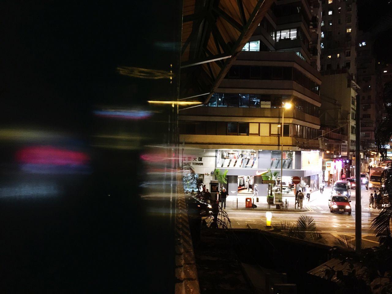 Transportation Mode Of Transport Illuminated Night Land Vehicle Car Building Exterior Built Structure Architecture Public Transportation City Road Outdoors No People Sky HongKong