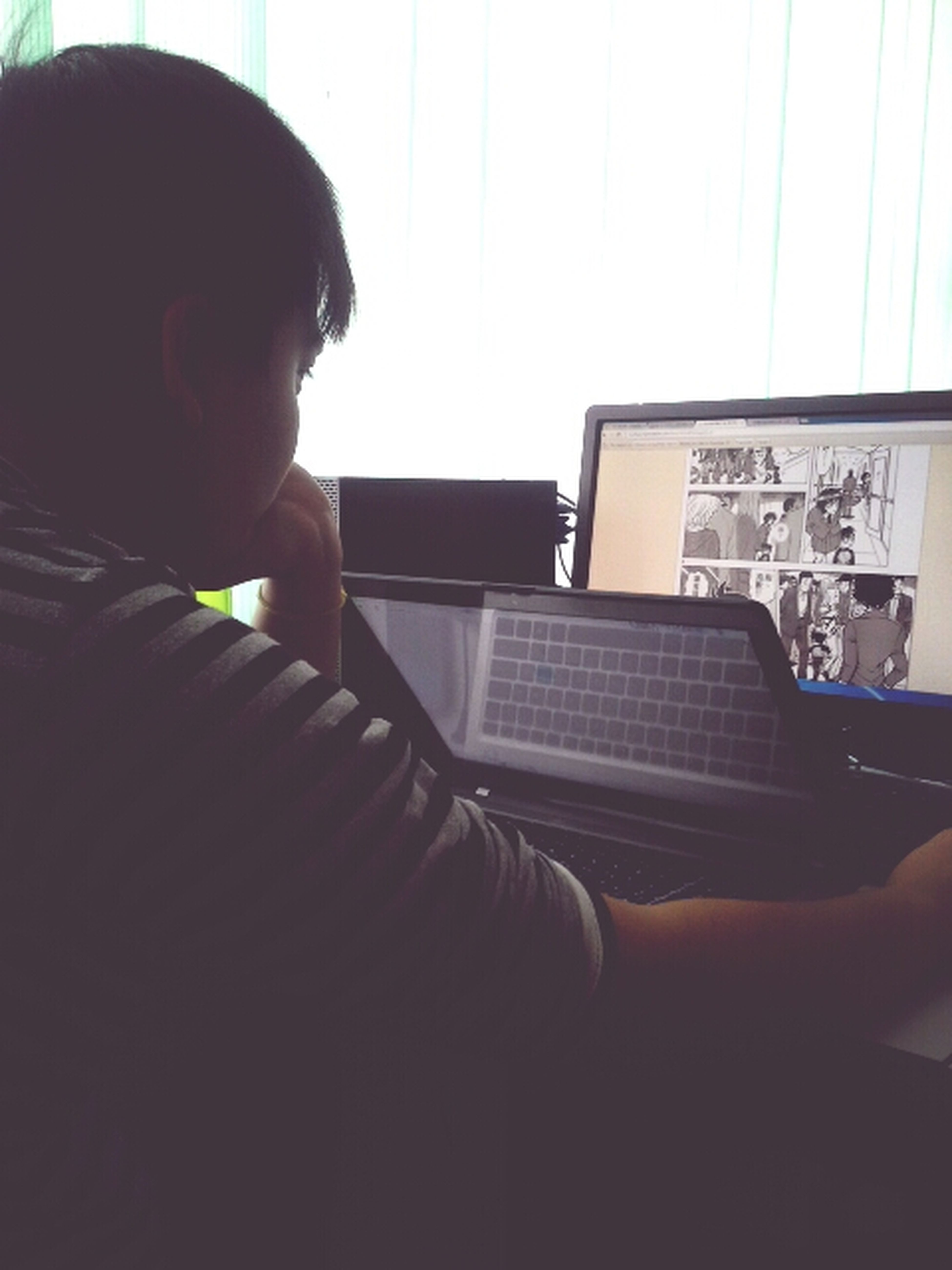 This is how ding chao studies software enginerering, manga boy.