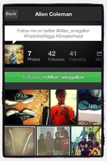 Follow The Homie @allen_smagallon He Follow Back ^___^ !