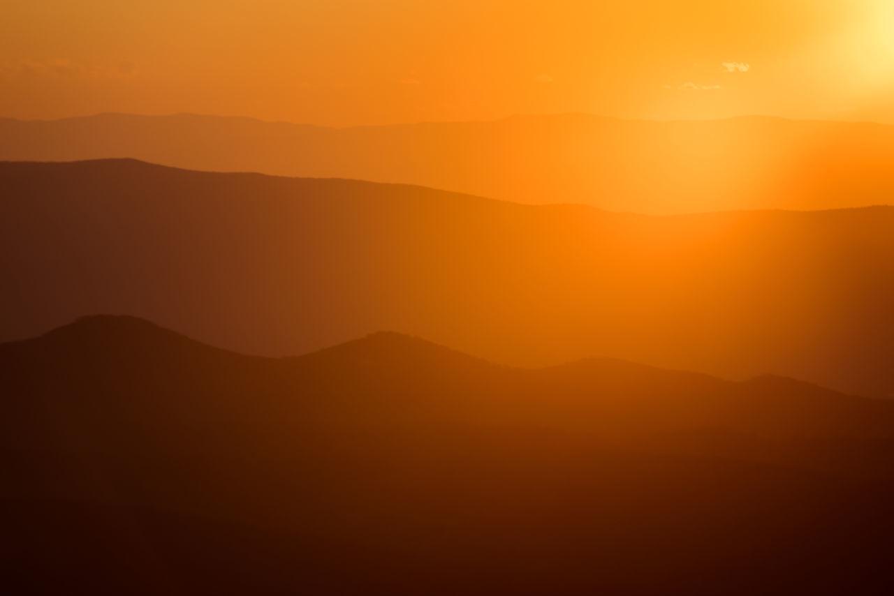 Inspiration Landscape Lens Flare Mountain Mountain Range Mountains Orange Orange Color Shenandoah National Park Silouette Sunrise Sunset Tranquility Virginia