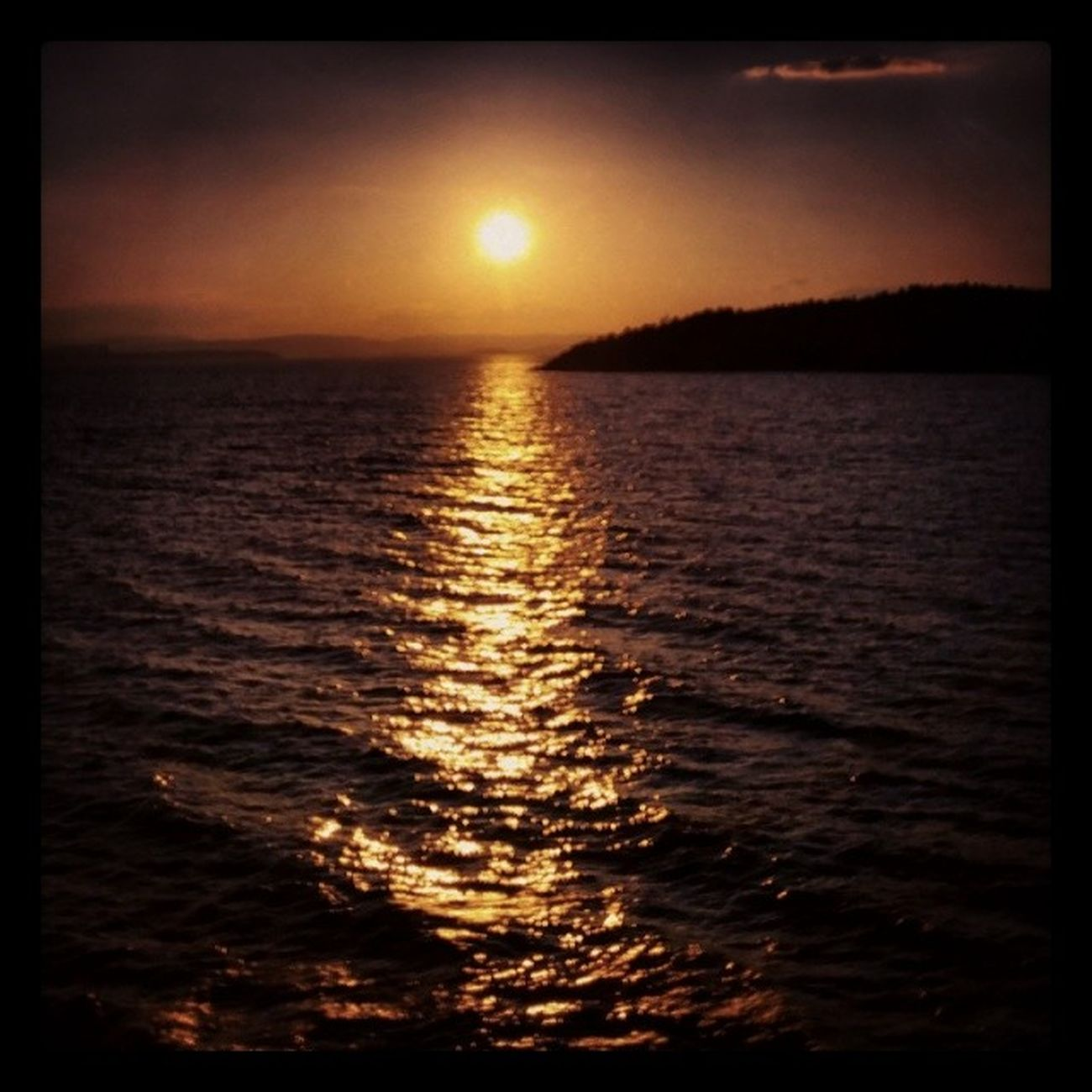 HortenMoss Norway Sundown colour lovely Vestfold water sun
