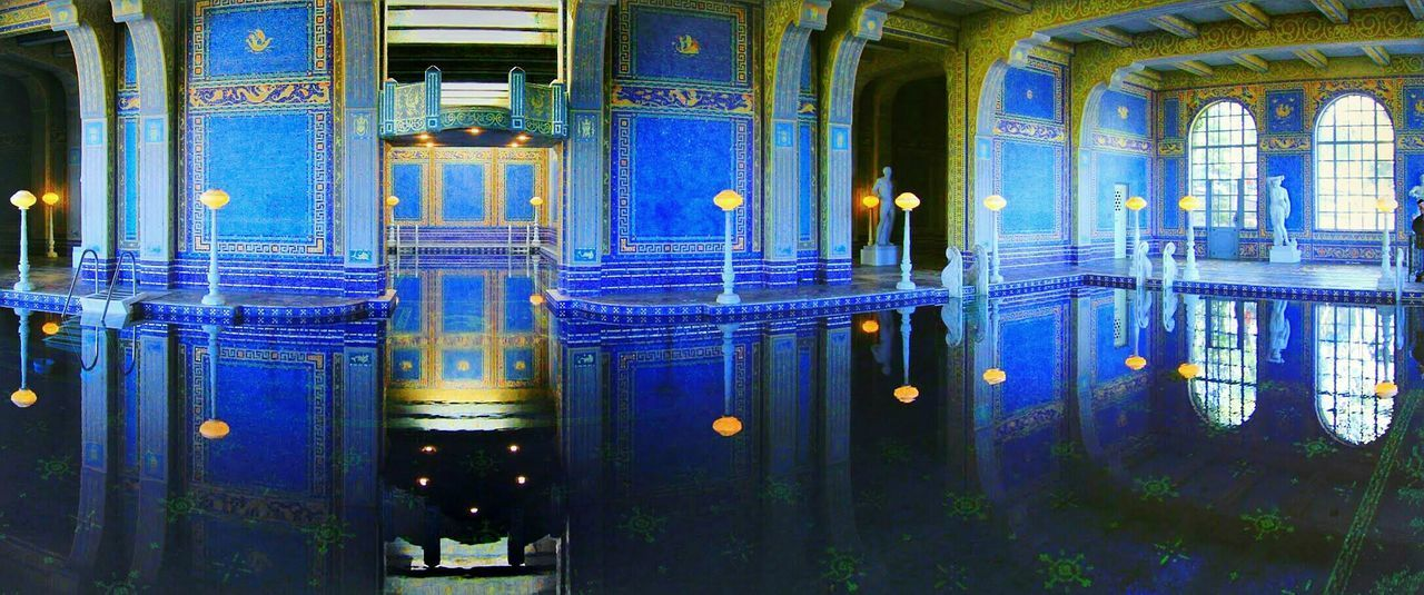 Roman Pool in a magnificent Hearst Castle. Historical Building Swimming Pool Exotic Panoramic Photography The Architect - 2016 EyeEm Awards My Favorite Photo