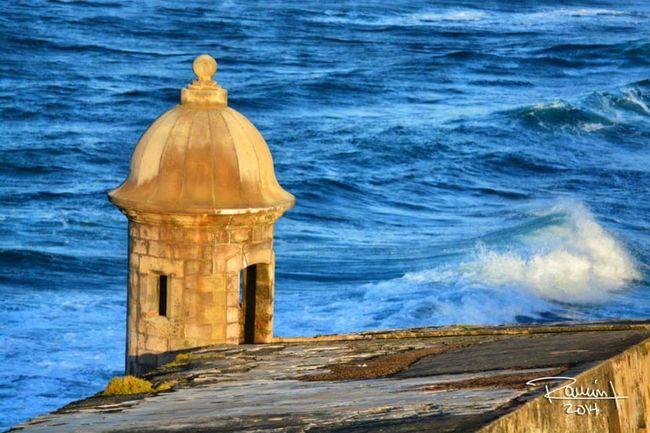 Old San Juan Puerto Rico Garita El Morro Ocean Viejo San Juan Castle Castillo Ocean Oceano Mar Wave Olas Caribbean Caribbean Blue