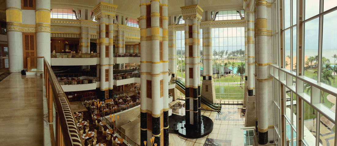 The Empire Hotel & County Club, Brunei Architecture Built Structure Glass Wall Hotel Lobby Large Group Of Objects Luxury Resort Hotel Travel Destinations
