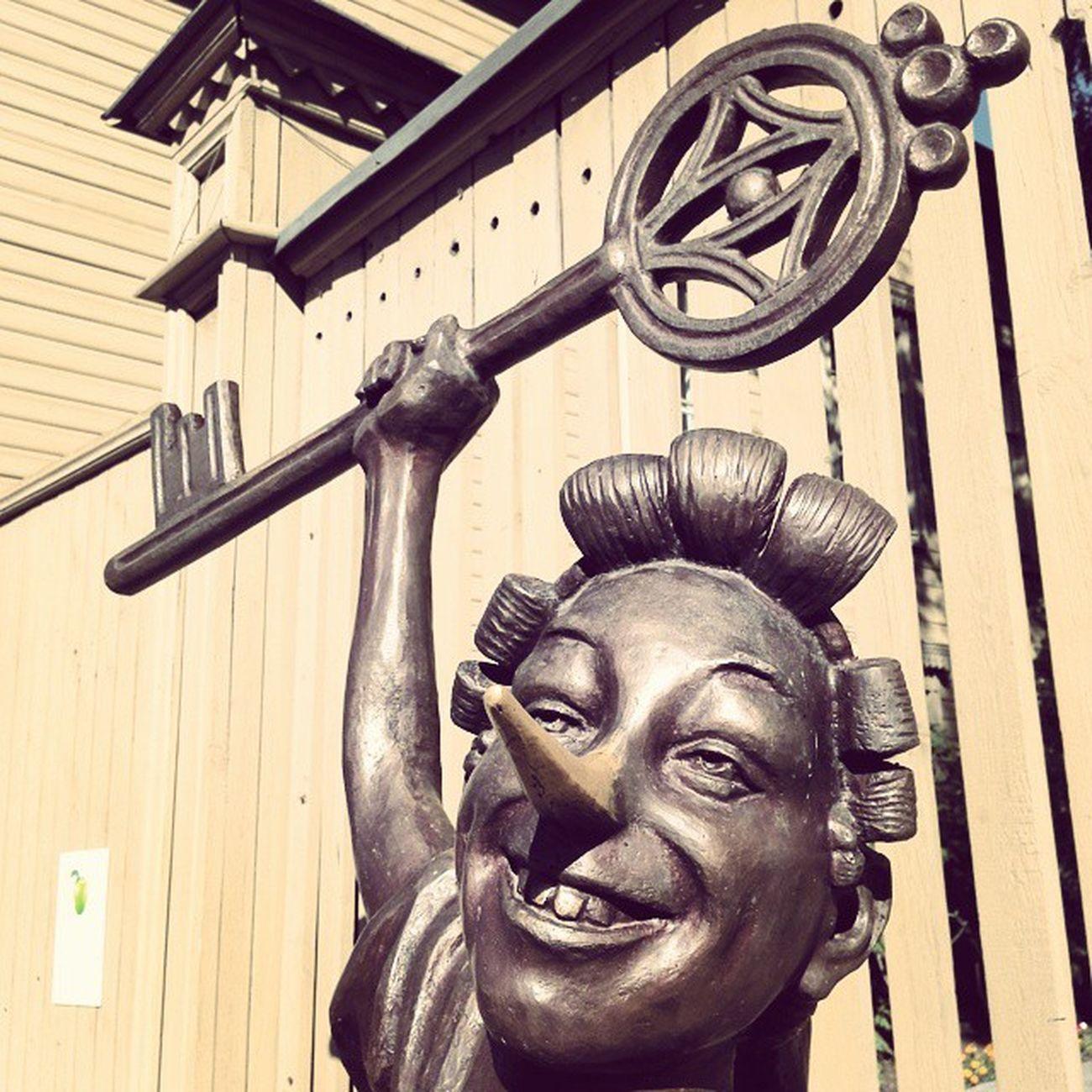 буратино Самара памятник лето город