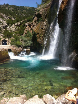 waterfall at Grad Knin by expatjournal