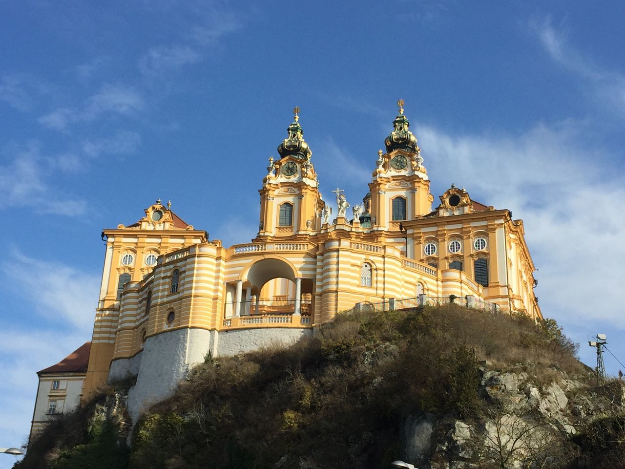 Stift Melk Melk Architecture Sky Nofilter No People Outdoors Spirituality Travel Destinations Day Cultures Beautiful ♥ Beautiful Travel