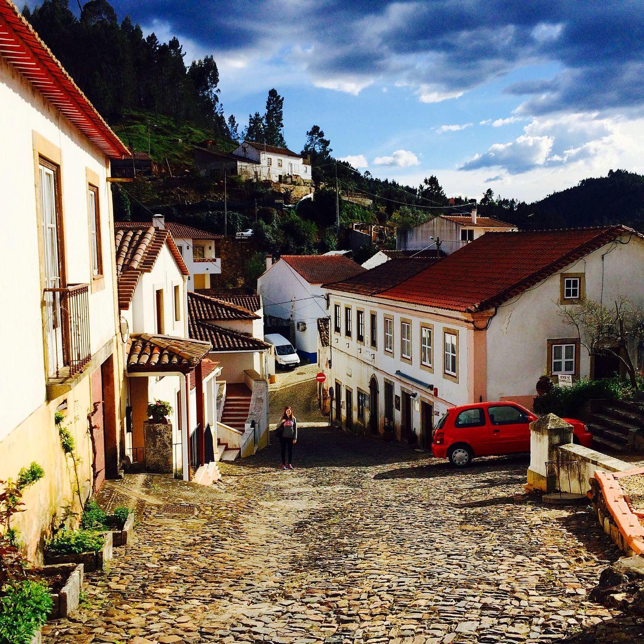 Dornes Portugal Ferreira Do Zezere Town Architecture Dramatic Sky