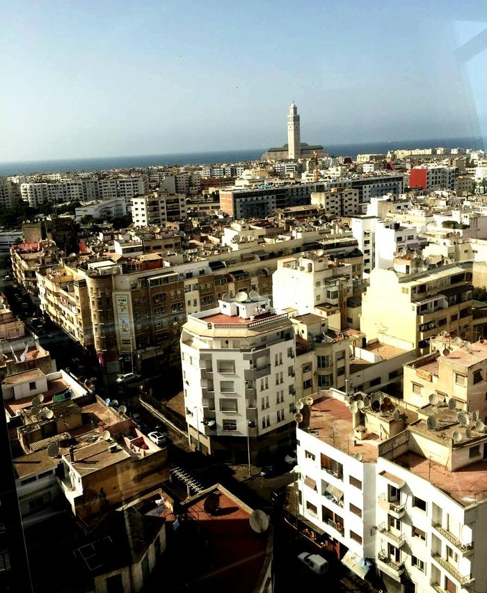 CasablancaStreets Built Structure Sky City Tall - High Mosque Hassan ıı Architecture Building Exterior Built Structure Crowded City Life Sky Building Story